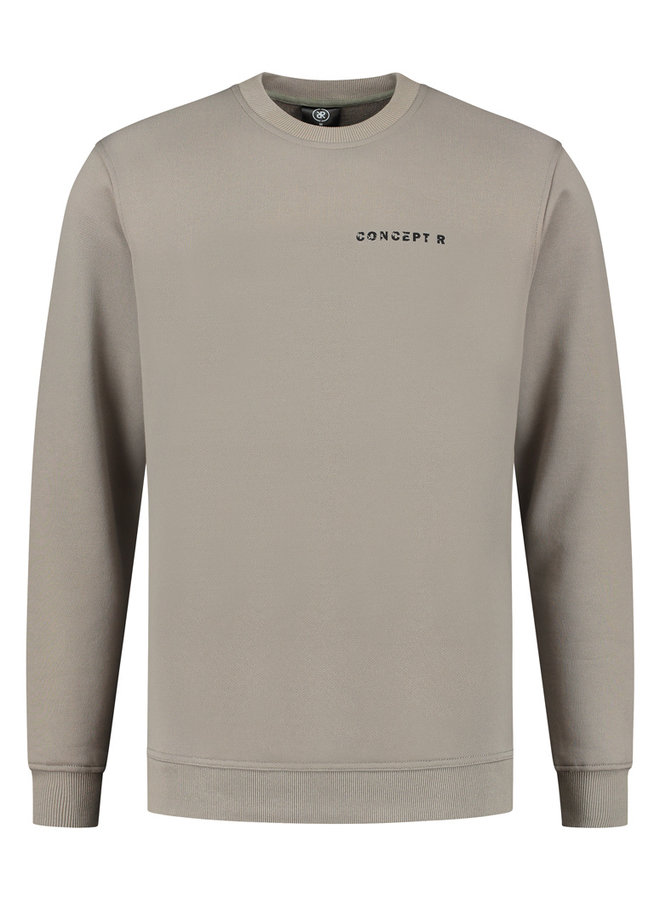 Concept R - Damaged Basic Sweater Grey