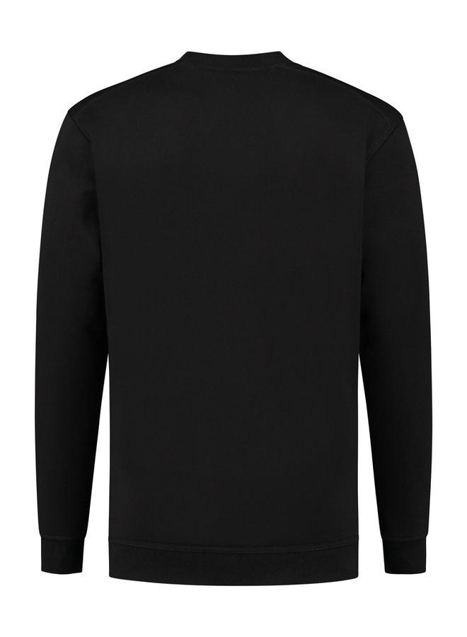 Concept R - Damaged Basic Sweater Black