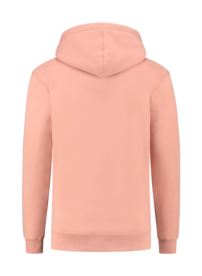 Concept R - Damaged Letters Hoodie Salmon