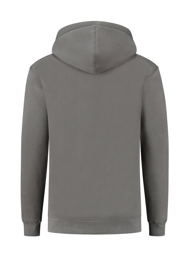 Concept R - Damaged Letters Hoodie Ash Grey