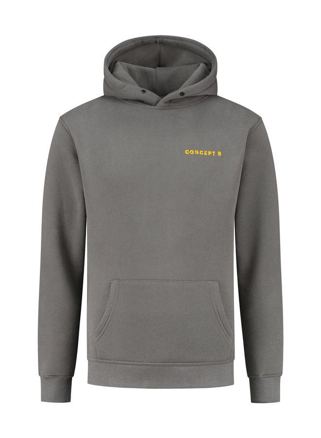 Concept R - Damaged Basic Hoodie Ash Grey