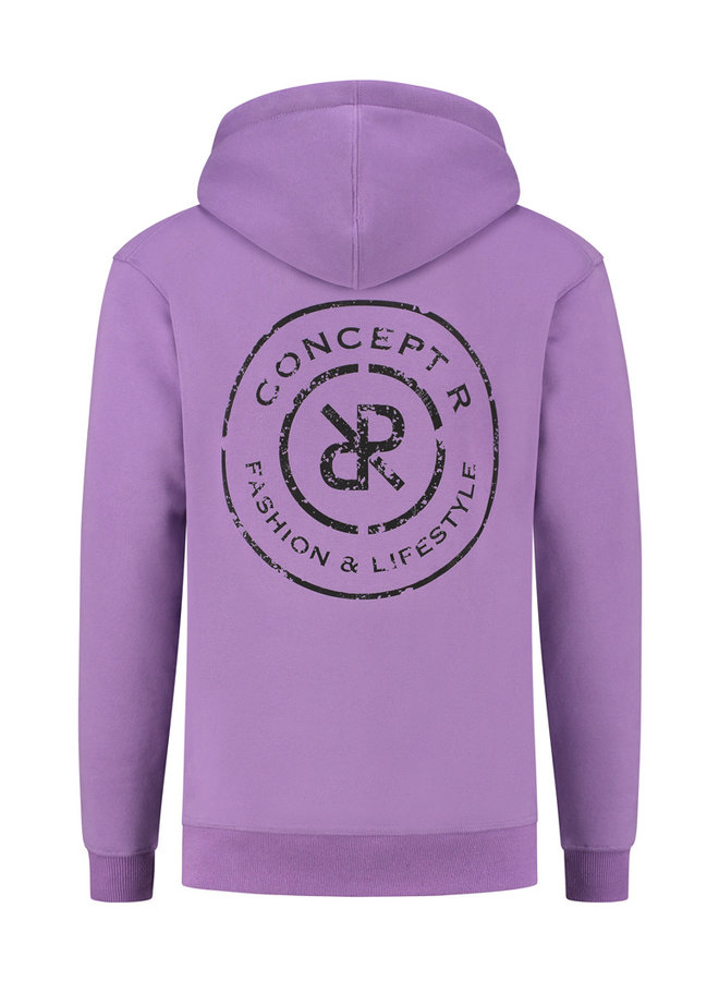 Concept R - Damaged Logo Hoodie Purple