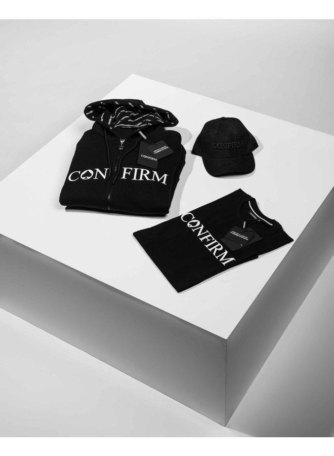 Confirm - Brand Zipped Hoodie Black