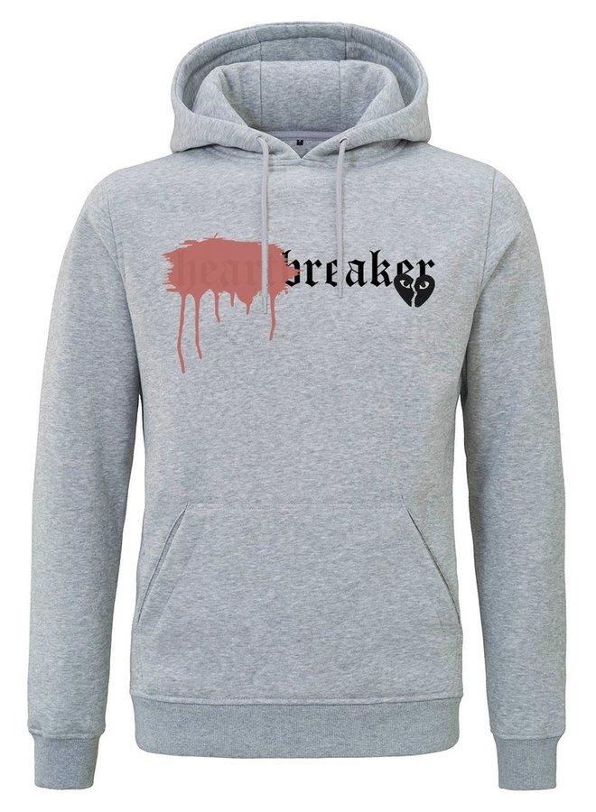 Rivero - Heartbreaker Hoodie Grey Sprayed Red