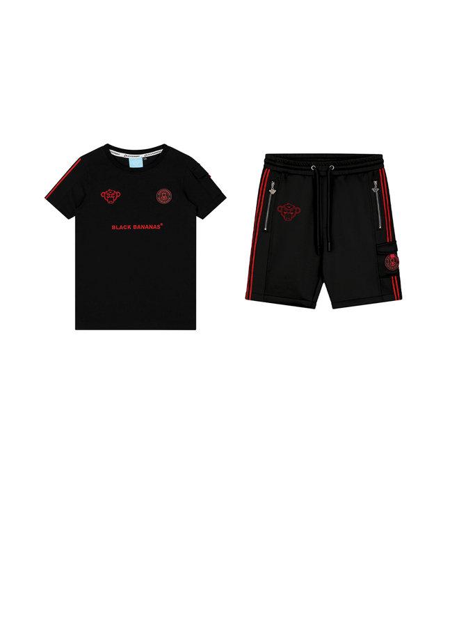 Black Bananas - Jr. Unity Short Black Red