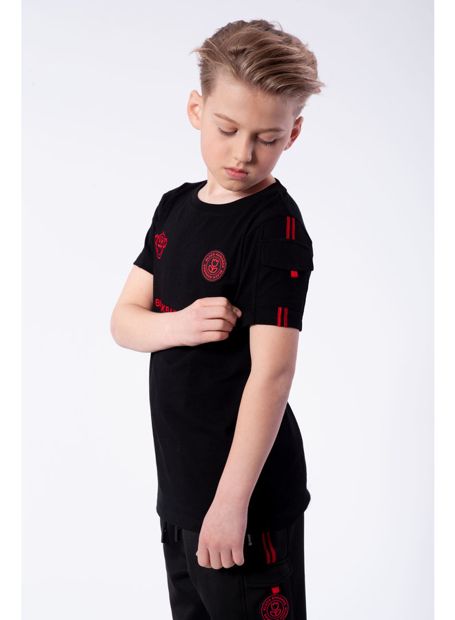 Black Bananas - Jr. Unity Tee Black Red
