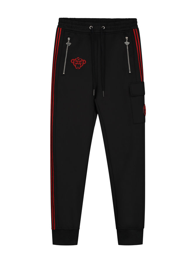 Black Bananas - Jr. Unity Trackpants Black Red