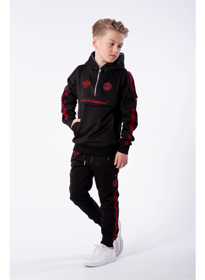 Black Bananas - Jr. Unity Tracktop Black Red