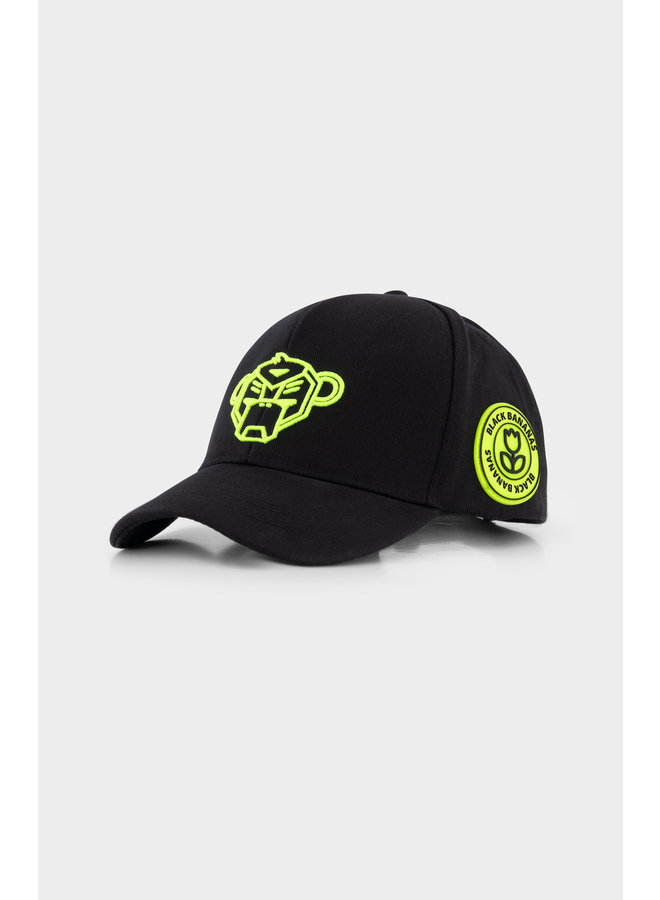 Black Bananas - Jr. Match Baseball Hat Neon Yellow