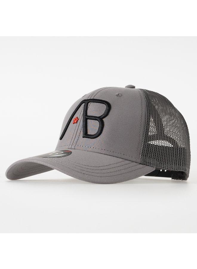 AB Lifestyle - Retro Trucker Cap 2Tone Grey Dark Grey