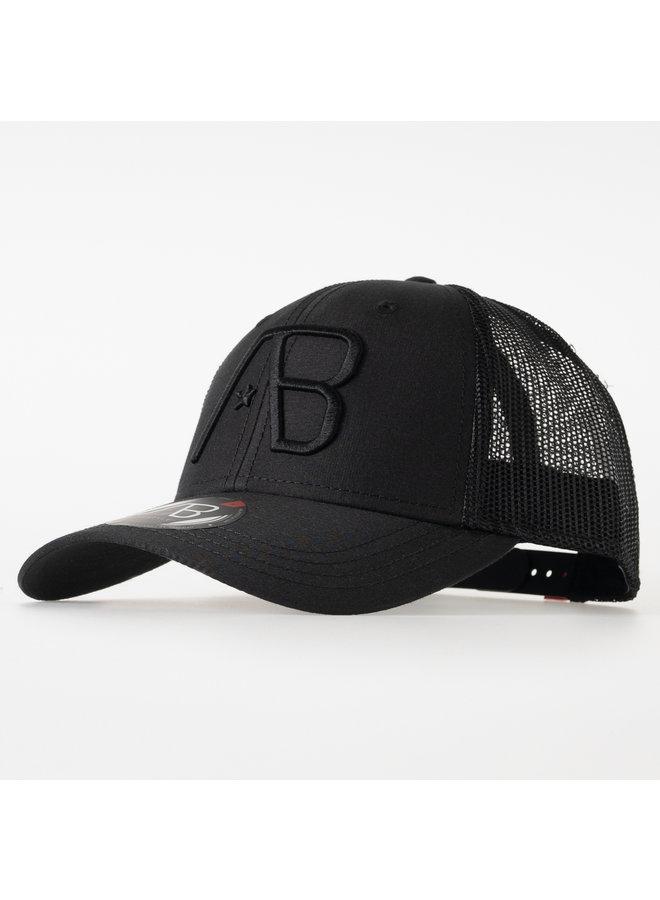 AB Lifestyle - Retro Trucker Cap All Black