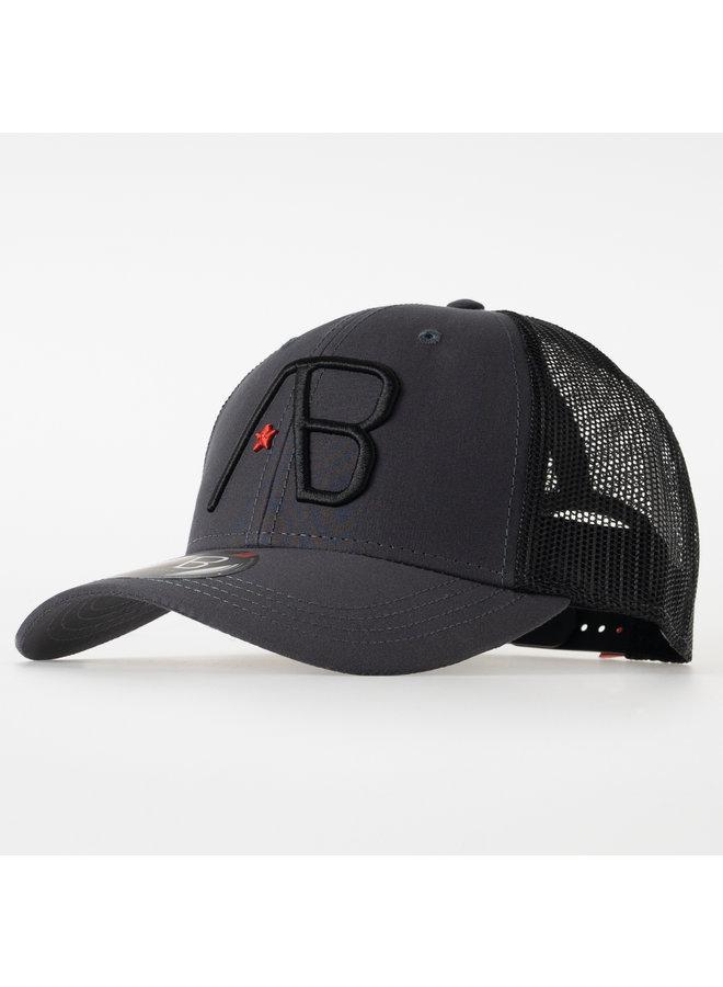 AB Lifestyle - Retro Trucker Cap 2Tone Black Dark Grey
