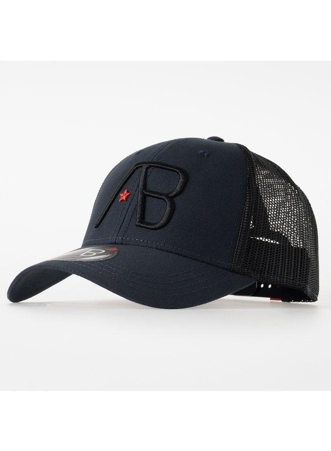 AB Lifestyle - Retro Trucker Cap 2Tone Black Navy