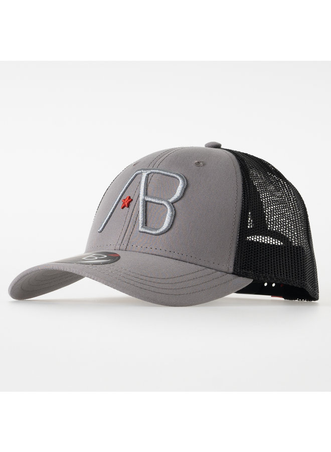 AB Lifestyle - Retro Trucker Cap 2Tone Black Grey