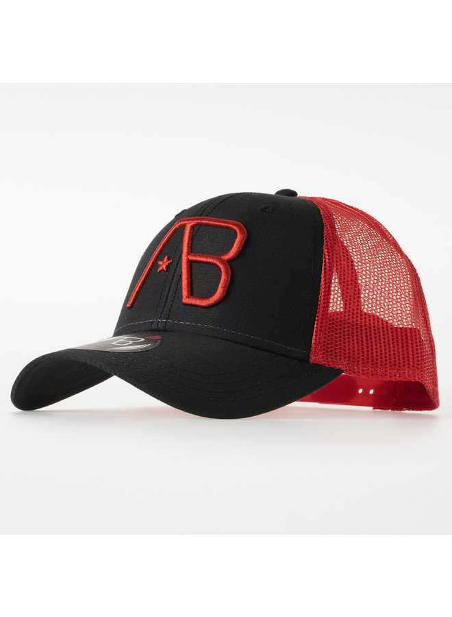 AB Lifestyle - Retro Trucker Cap 2Tone Red Black