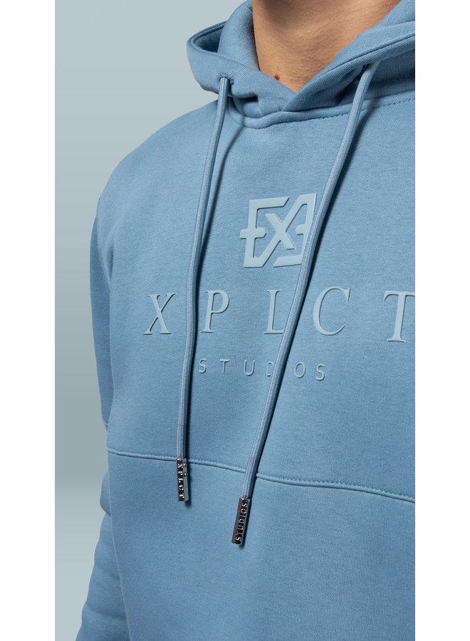 XPLCT STUDIOS - BRAND HOODIE - AQUA
