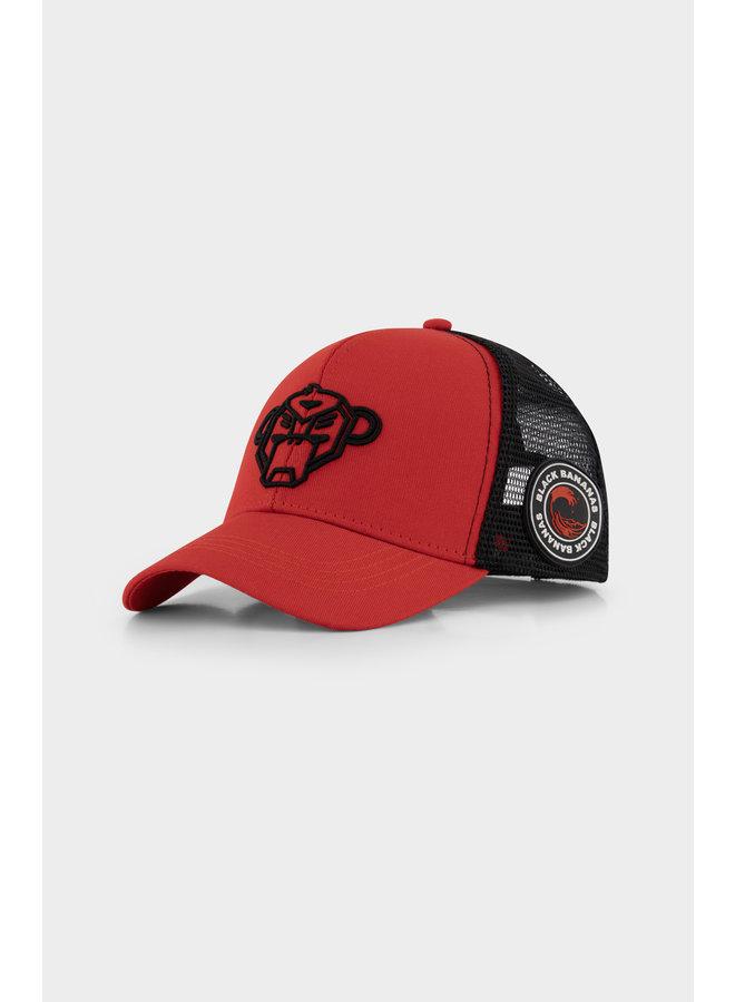 BLACK BANANAS - JR. WAVY TRUCKER CAP RED