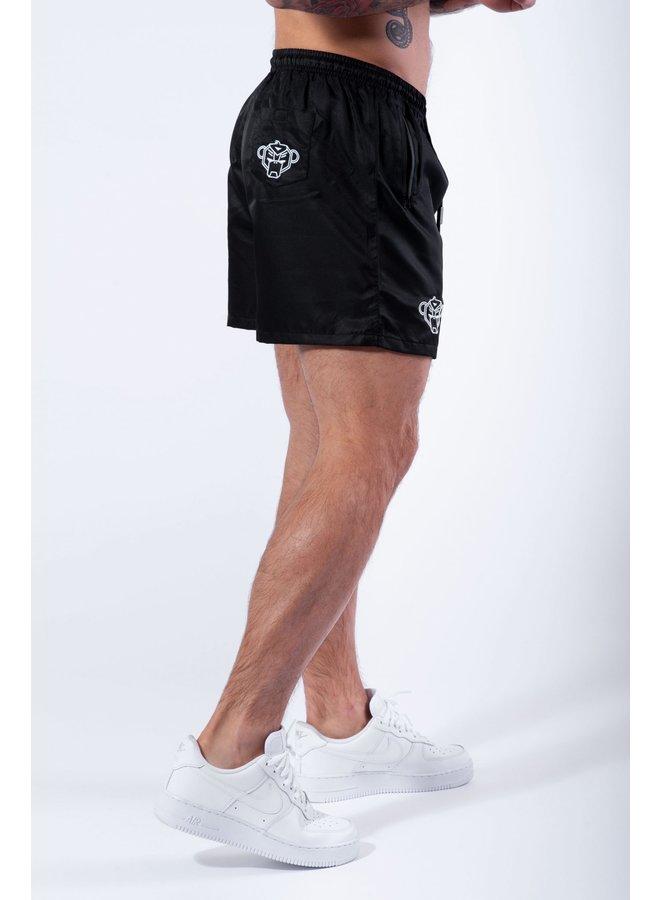 BLACK BANANAS - PALM POCKET SWIMSHORT BLACK