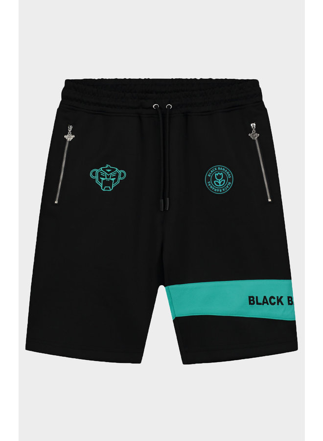 BLACK BANANAS - COMMAND SHORT BLACK AQUA