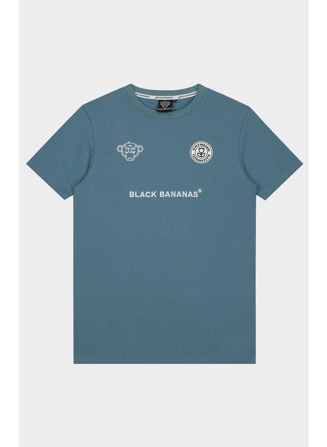 BLACK BANANAS - F.C. BASIC TEE BLUE
