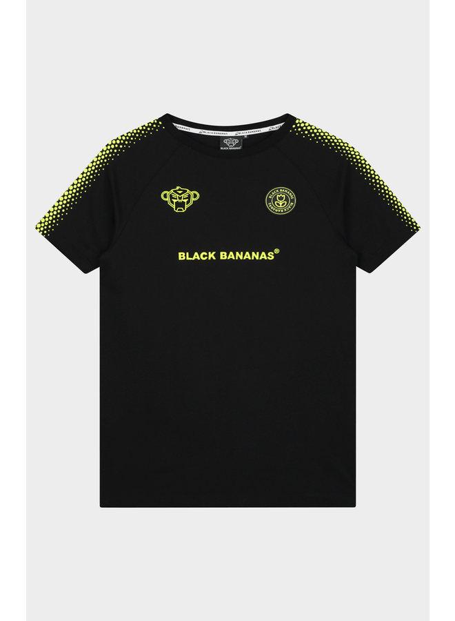 BLACK BANANAS - HEXAGON TEE BLACK/YELLOW