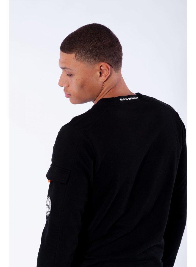 BLACK BANANAS - RIBBON SWEAT BLACK