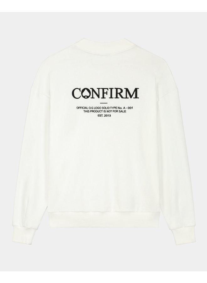 CONFIRM - BRAND SWEATER O.G WHITE