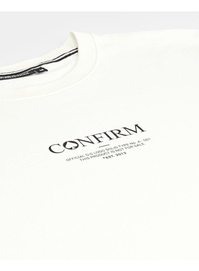CONFIRM - BRAND SHIRT O.G WHITE