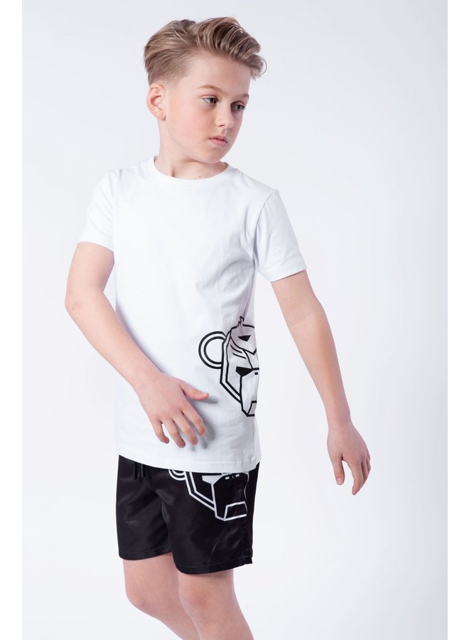 BLACK BANANAS KIDS - JR. SIDE TEE WHITE/BLACK