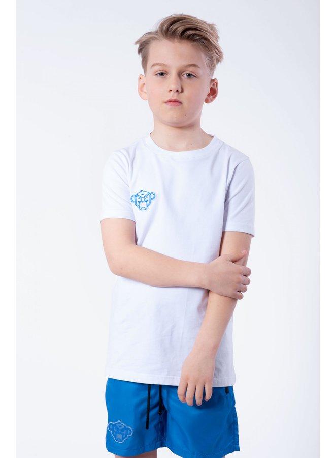 BLACK BANANAS KIDS - JR. REFLECTIVE UNIVERSE TEE WHITE/BLUE