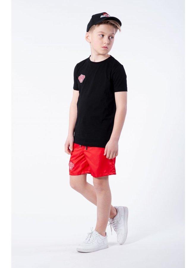 BLACK BANANAS KIDS - REFLECTIVE UNIVERSE TEE BLACK/RED