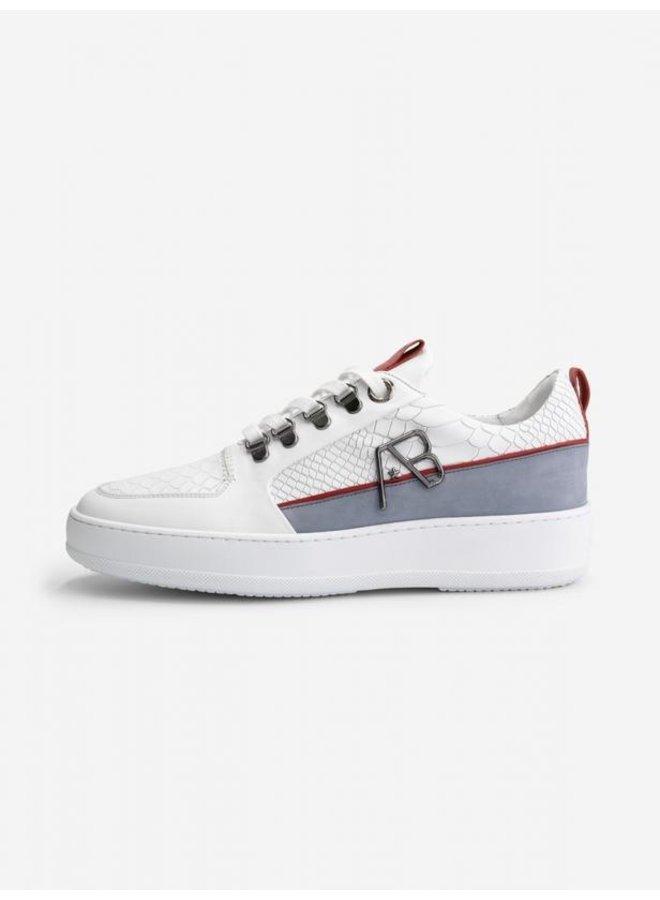 AB LIFESTYLE - FOOTWEAR LEATHER WHITE/LT GREY