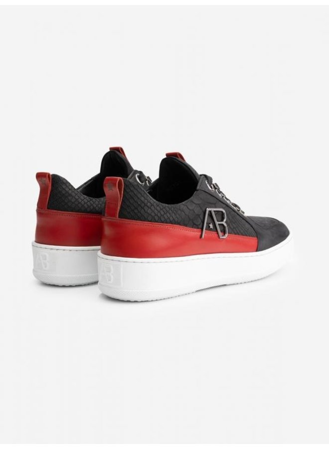 AB LIFESTYLE - FOOTWEAR LEATHER BLACK/RED