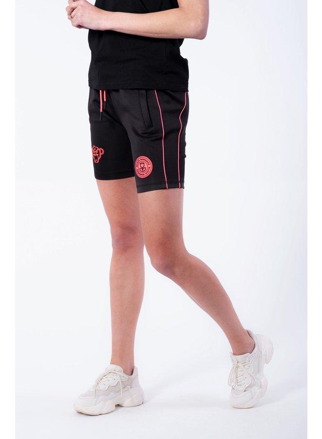 BLACK BANANAS WOMEN - NEON PIPING SHORT BLACK/PINK
