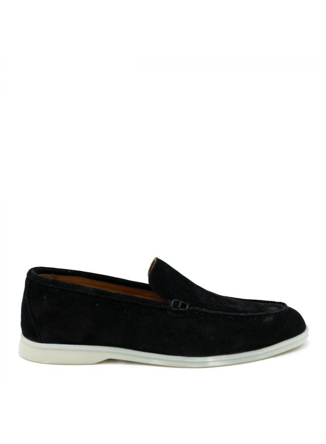 HON - LOAFERS SUEDE BLACK LOW