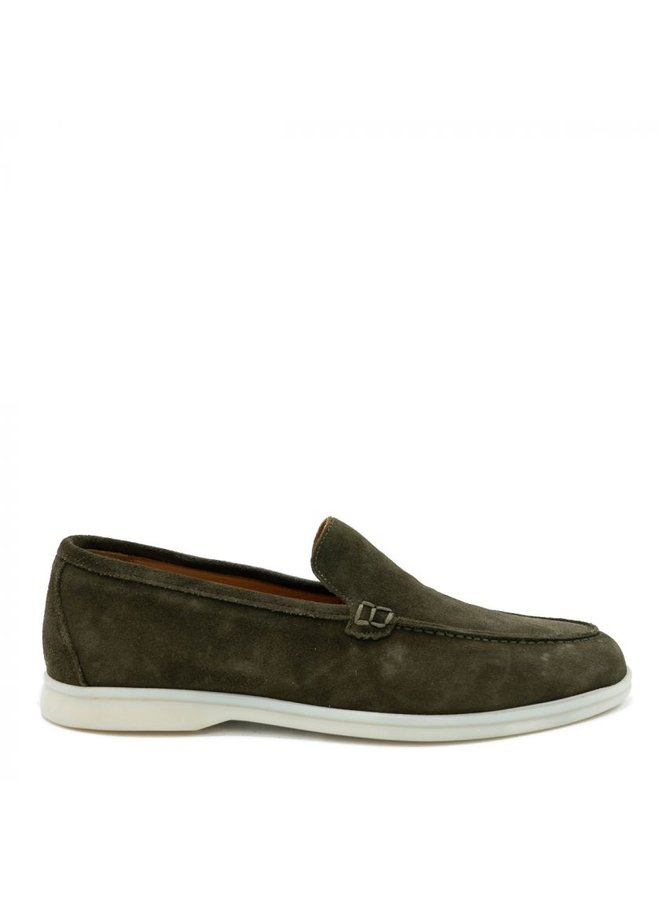 HON - LOAFERS SUEDE ARMY GREEN LOW