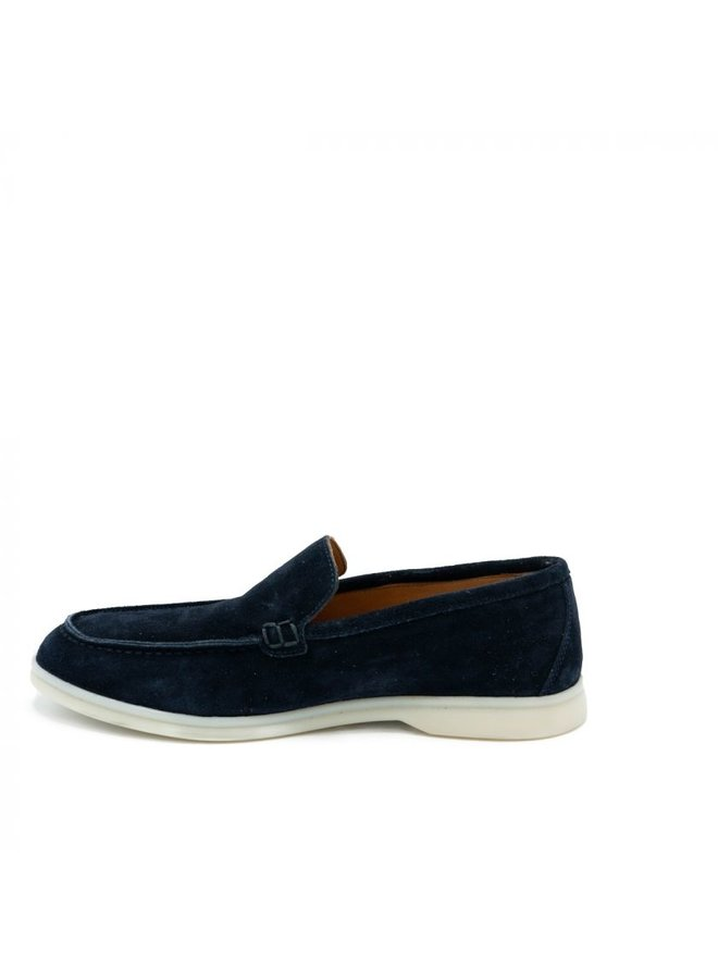 HON - LOAFERS SUEDE NAVY LOW