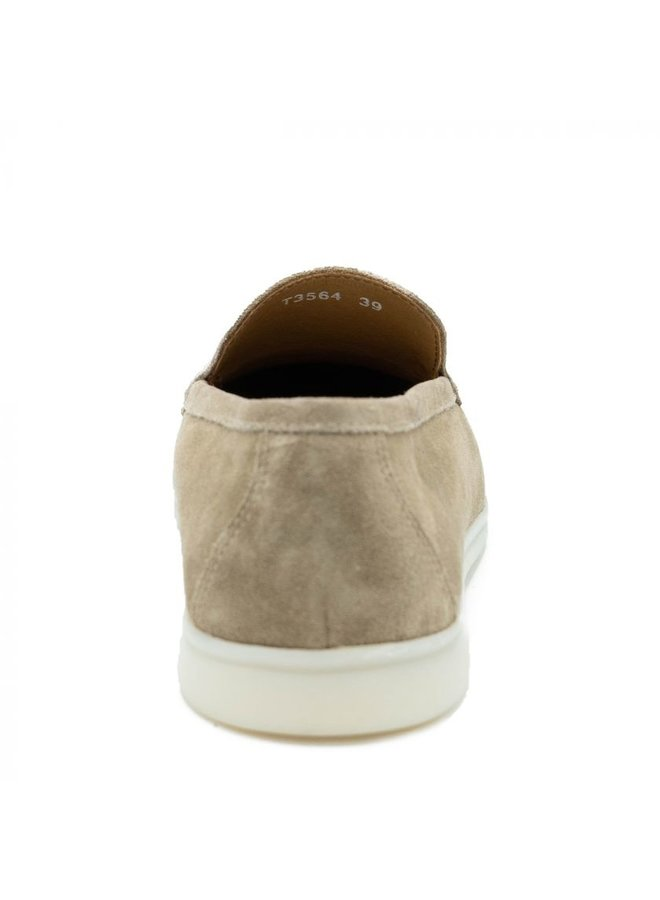 HON - LOAFERS SUEDE BEIGE LOW