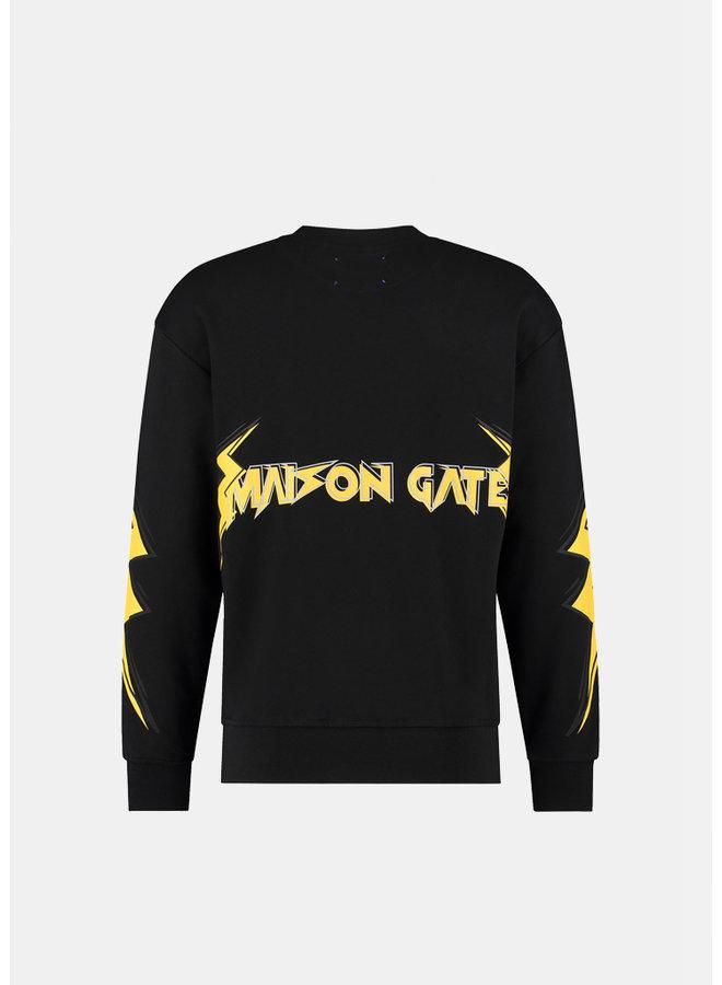 MAISON GATE - THUNDER SWEATER BLACK