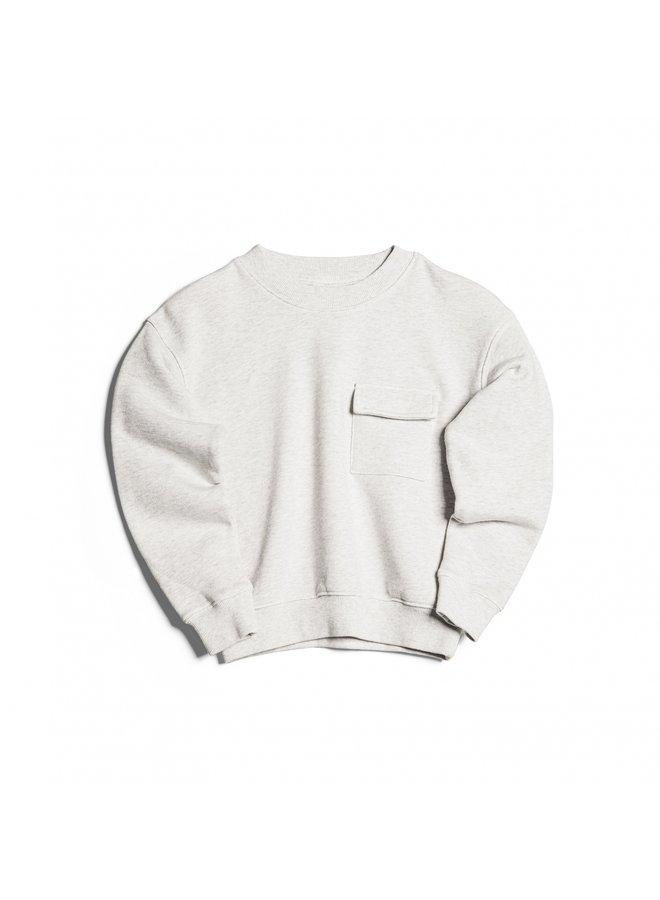 HOUSE OF BASICZ - THE SWEATER POCKET GREY MARBLE
