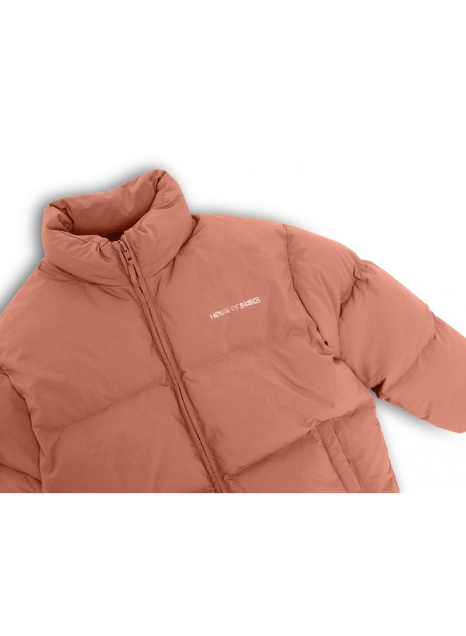HOUSE OF BASICZ - THE PUFFER COAT OLD ROSE