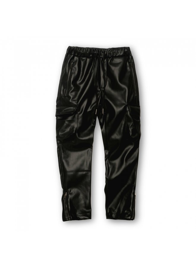 HOUSE OF BASICZ -THE CARGO PANTS FAUX LEATHER