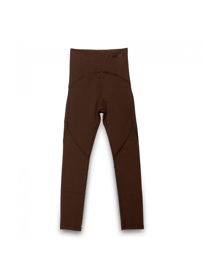 HOUSE OF BASICZ - THE BROWN FAUX LEATHER PANTS