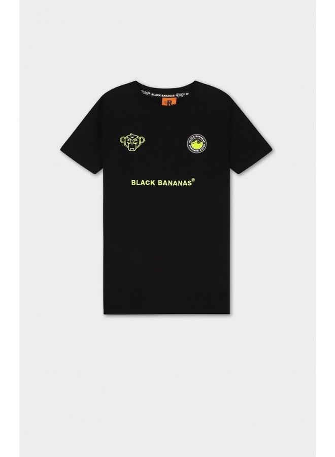 BLACK BANANAS - JR MONKEY TRON TEE  BLACK