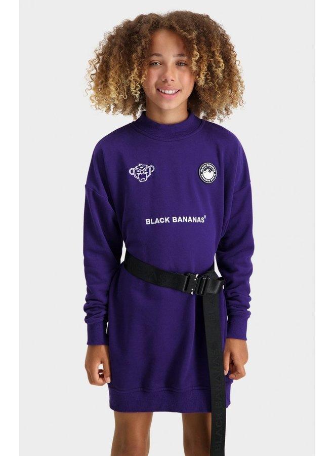 BLACK BANANAS - JR GRL CYBER DRESS PURPLE
