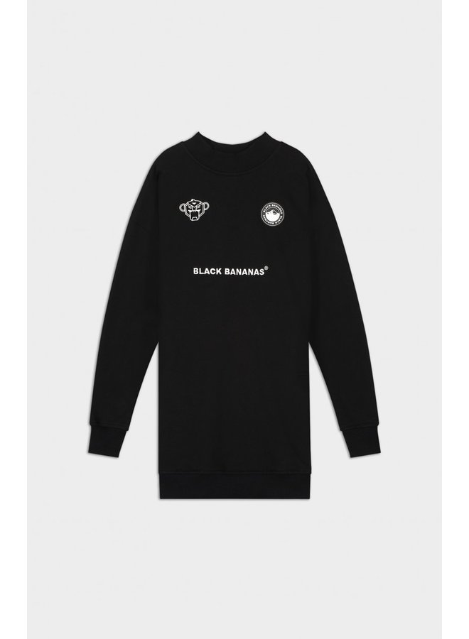 BLACK BANANAS - JR GRL CYBER DRESS BLACK