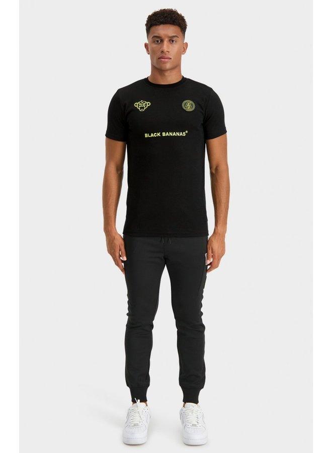 BLACK BANANAS - MONKEY TRON TEE BLACK/LIME