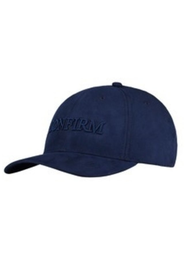Confirm -Brand Suede Look Cap Navy