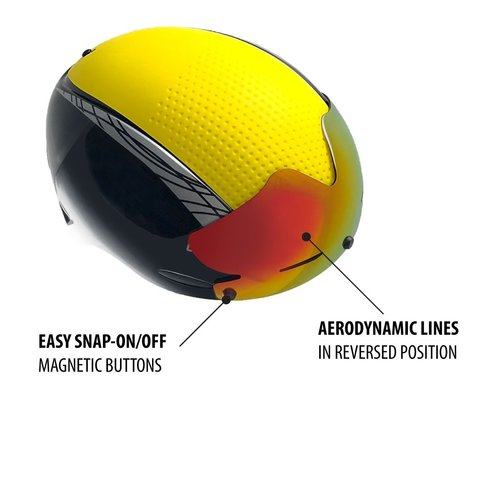 Cádomotus A2 Snap-on visor for Alpha-2 ice speed skating helmet (fits also Omega)
