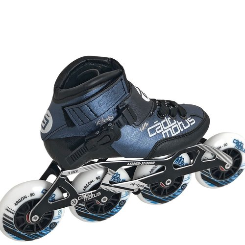 Cádomotus Rookie Two Kids Inline Skate 4x100 | 3x110 race setup + extra ankle support